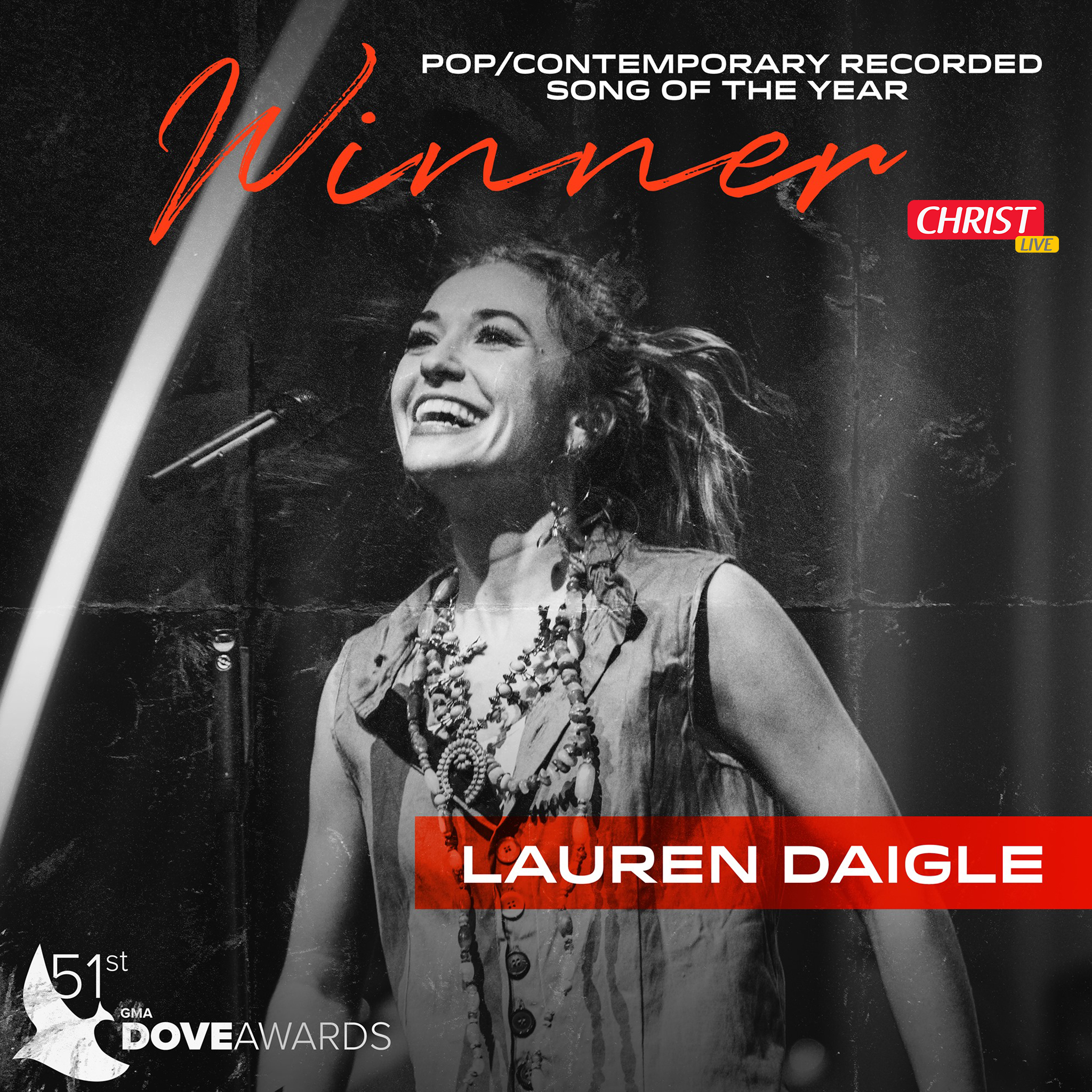 GMA Dove Awards : Lauren Daigle récompensée.