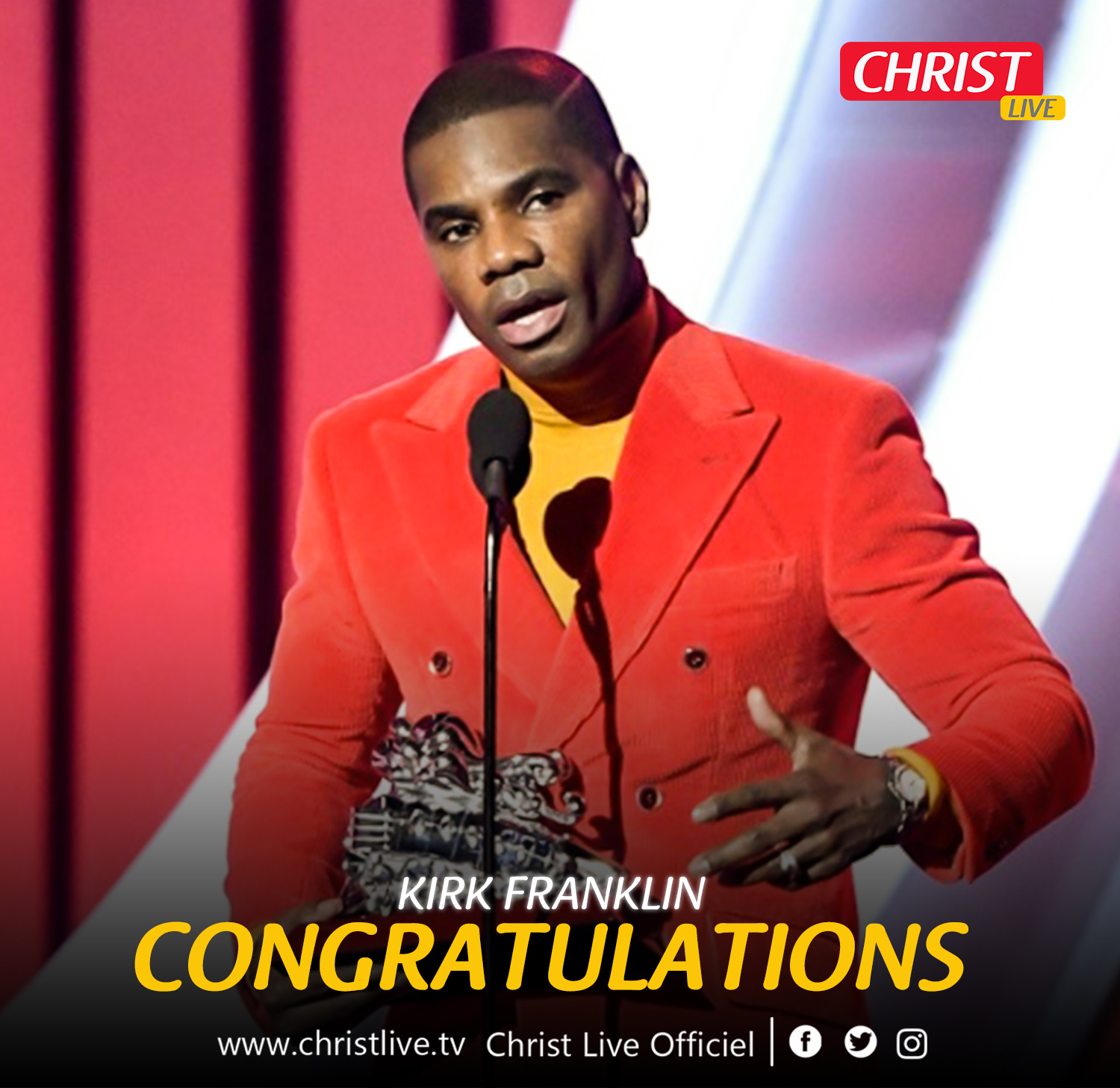 Kirk Franklin lauréat aux Soul Train Awards 2020.