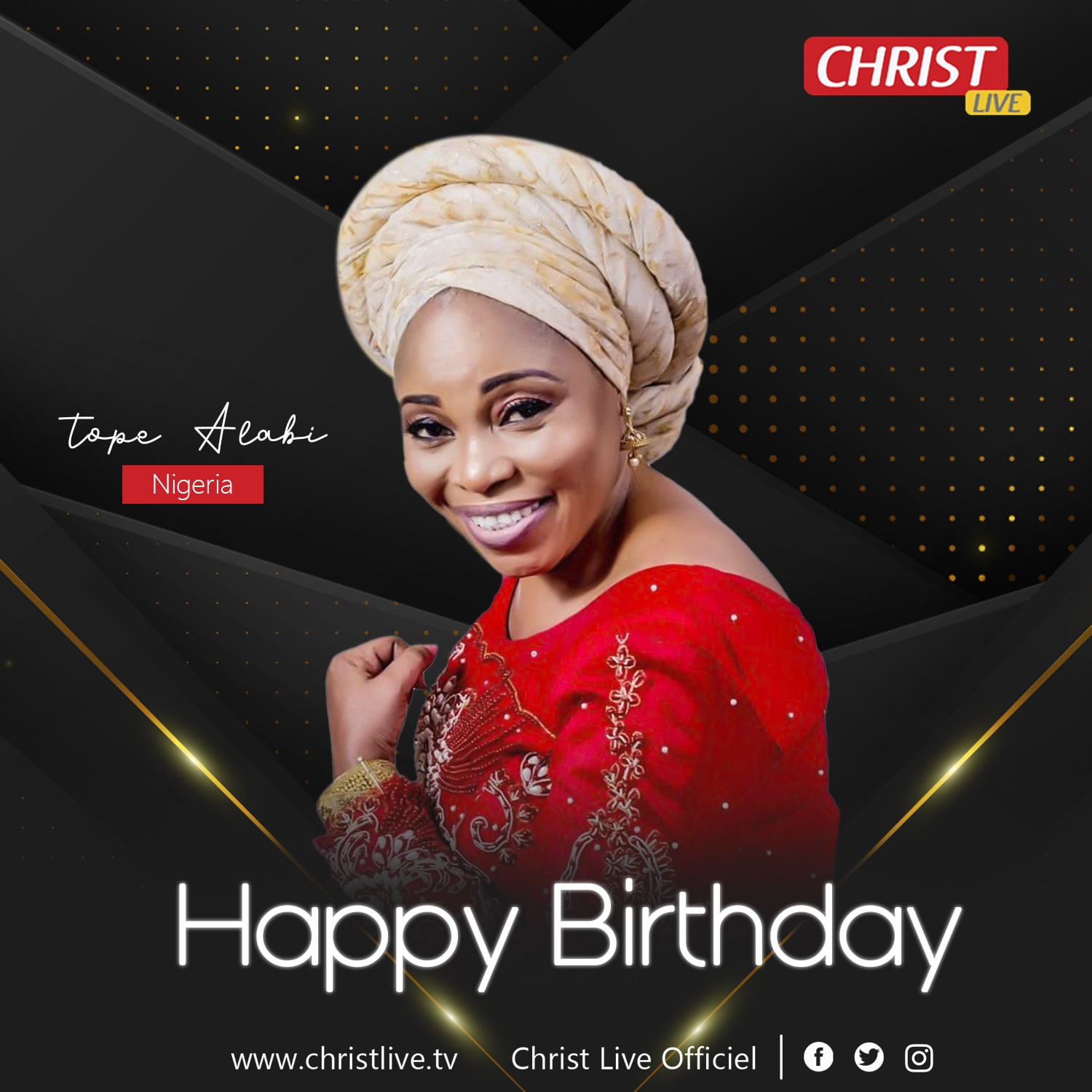 Happy birthday mama Tope Alabi.