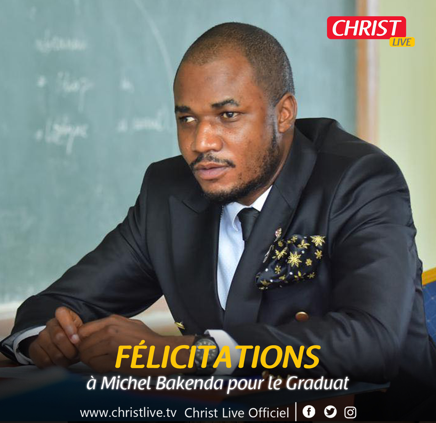 Michel Bakenda décroche le Graduat avec mention grande distinction.