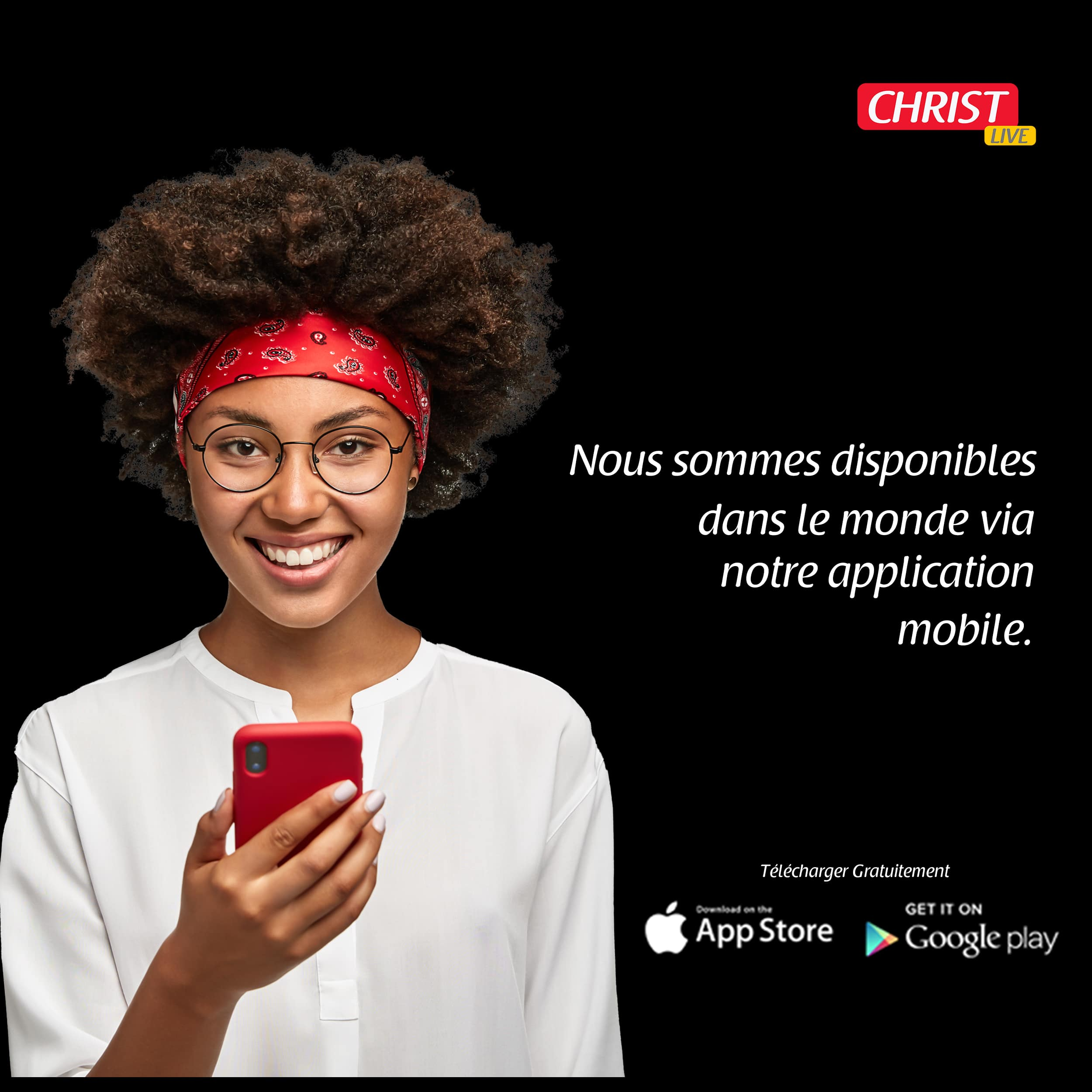 Nouvelle Application Christ live.